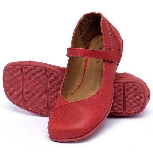 Laranja_Lima_Shoes_Sapatos_Femininos_Sapatilha_Bico_Quadrado_em_Couro_Vermelho_-_Codigo_-_9495_2