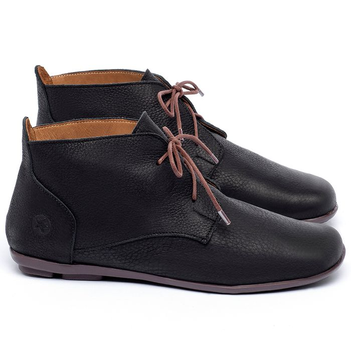 Laranja_Lima_Shoes_Sapatos_Femininos_Flat_Boot_em_Couro_Preto_-_Codigo_-_9496_1