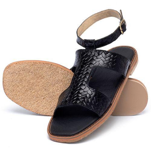 Laranja_Lima_Shoes_Sapatos_Femininos_Sandalia_Rasteira_Flat_em_Couro_Preto_-_Codigo_-_3730_2
