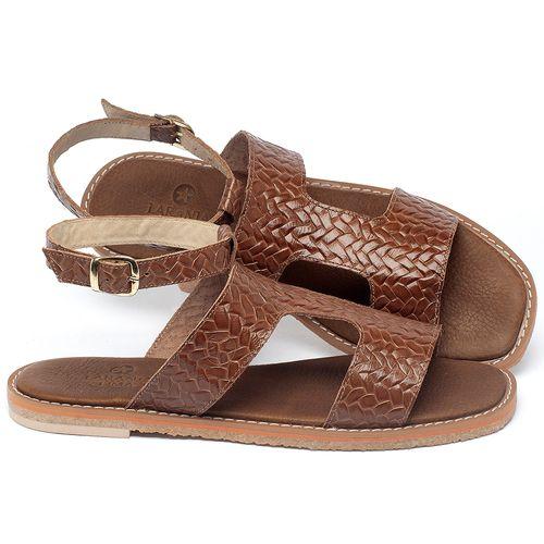 Laranja_Lima_Shoes_Sapatos_Femininos_Sandalia_Rasteira_Flat_em_Couro_Caramelo_-_Codigo_-_3730_1