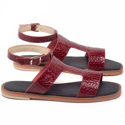 Laranja_Lima_Shoes_Sapatos_Femininos_Sandalia_Rasteira_Flat_em_Couro_Vermelho_-_Codigo_-_3730_1