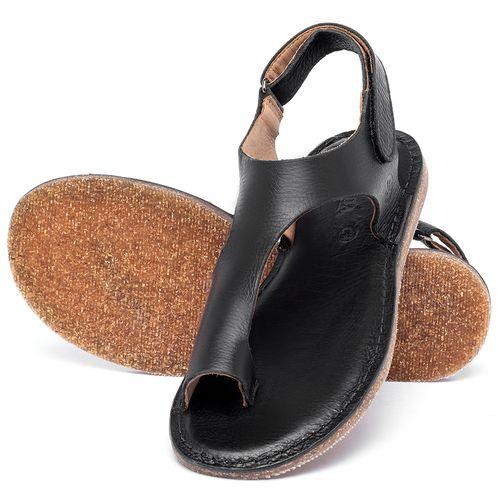Laranja_Lima_Shoes_Sapatos_Femininos_Sandalia_Rasteira_Flat_em_Couro_Preto_-_Codigo_-_141102_2