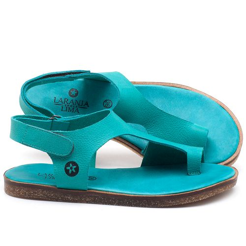 Laranja_Lima_Shoes_Sapatos_Femininos_Sandalia_Rasteira_Flat_em_Couro_Azul_-_Codigo_-_141102_1