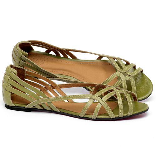 Laranja_Lima_Shoes_Sapatos_Femininos_Sandalia_Rasteira_Flat_em_Couro_Verde_-_Codigo_-_56218_1