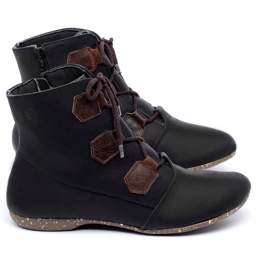 Laranja_Lima_Shoes_Sapatos_Femininos_Flat_Boot_em_Couro_Preto_-_Codigo_-_148040_1