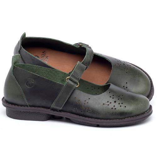 Laranja_Lima_Shoes_Sapatos_Femininos_Sapatilha_Bico_Redondo_em_Couro_Verde_-_Codigo_-_139049_1