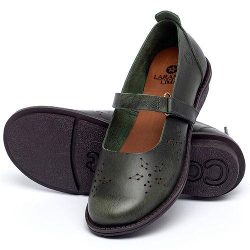 Laranja_Lima_Shoes_Sapatos_Femininos_Sapatilha_Bico_Redondo_em_Couro_Verde_-_Codigo_-_139049_2