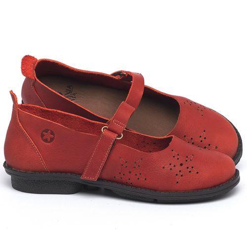 Laranja_Lima_Shoes_Sapatos_Femininos_Sapatilha_Bico_Redondo_em_Couro_Vermelho_-_Codigo_-_139049_1