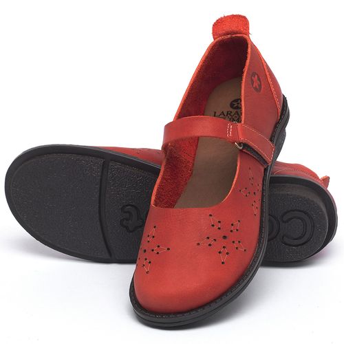 Laranja_Lima_Shoes_Sapatos_Femininos_Sapatilha_Bico_Redondo_em_Couro_Vermelho_-_Codigo_-_139049_2