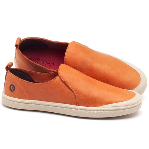 Laranja_Lima_Shoes_Sapatos_Masculinos_Tenis_Masculino_Cano_Baixo_em_Couro_Laranja_-_Codigo_-_141089_1