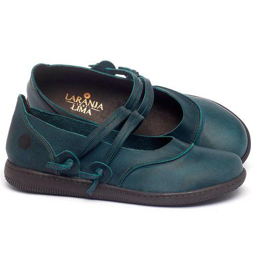 Laranja_Lima_Shoes_Sapatos_Femininos_Flat_Shoes_em_Couro_Azul_-_Codigo_-_137267_1