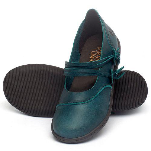 Laranja_Lima_Shoes_Sapatos_Femininos_Flat_Shoes_em_Couro_Azul_-_Codigo_-_137267_2