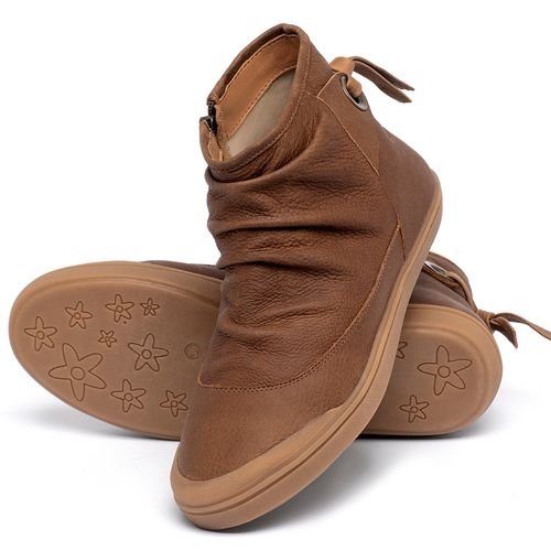 Laranja_Lima_Shoes_Sapatos_Femininos_Tenis_Cano_Alto_em_Couro_Caramelo_-_Codigo_-_56236_2