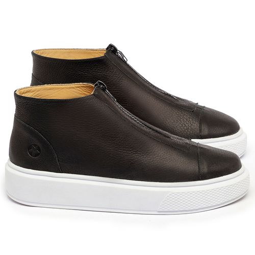 Laranja_Lima_Shoes_Sapatos_Femininos_Tenis_Cano_Alto_em_Couro_Preto_-_Codigo_-_3750_1