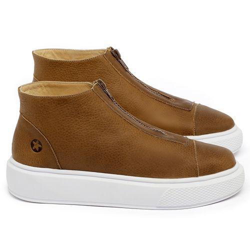 Laranja_Lima_Shoes_Sapatos_Femininos_Tenis_Cano_Alto_em_Couro_Caramelo_-_Codigo_-_3750_1