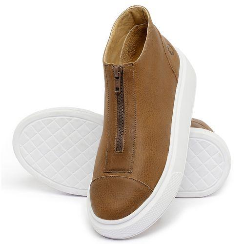 Laranja_Lima_Shoes_Sapatos_Femininos_Tenis_Cano_Alto_em_Couro_Caramelo_-_Codigo_-_3750_2