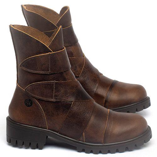 Laranja_Lima_Shoes_Sapatos_Femininos_Bota_Cano_Curto_em_Couro_Marrom_-_Codigo_-_137235_1