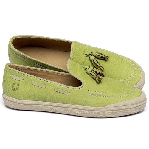 Laranja_Lima_Shoes_Sapatos_Femininos_Tenis_Cano_Baixo_em_Couro_Verde_-_Codigo_-_3751_1