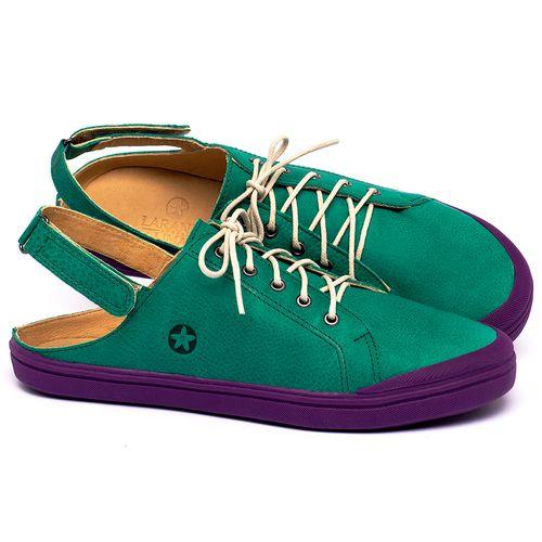 Laranja_Lima_Shoes_Sapatos_Femininos_Tenis_Cano_Baixo_em_Couro_Verde_-_Codigo_-_3753_1