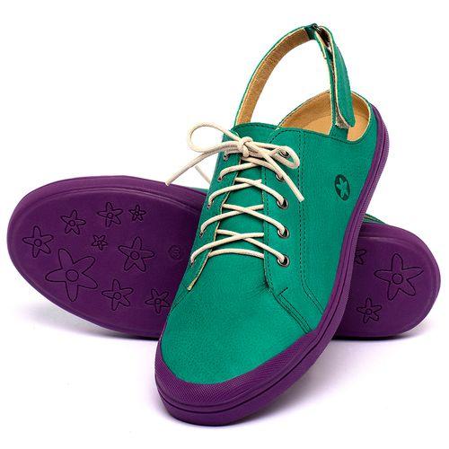 Laranja_Lima_Shoes_Sapatos_Femininos_Tenis_Cano_Baixo_em_Couro_Verde_-_Codigo_-_3753_2