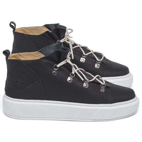 Laranja_Lima_Shoes_Sapatos_Femininos_Tenis_Cano_Alto_em_Couro_Preto_-_Codigo_-_3758_1