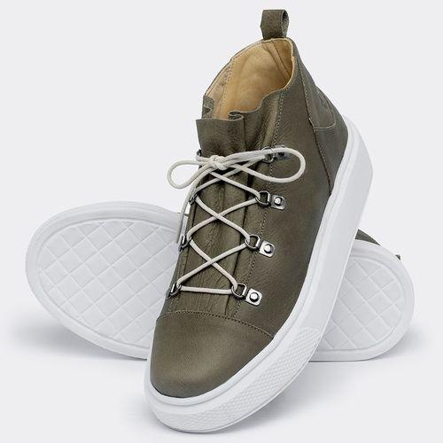 Laranja_Lima_Shoes_Sapatos_Femininos_Tenis_Cano_Alto_em_Couro_Verde_-_Codigo_-_3758_2