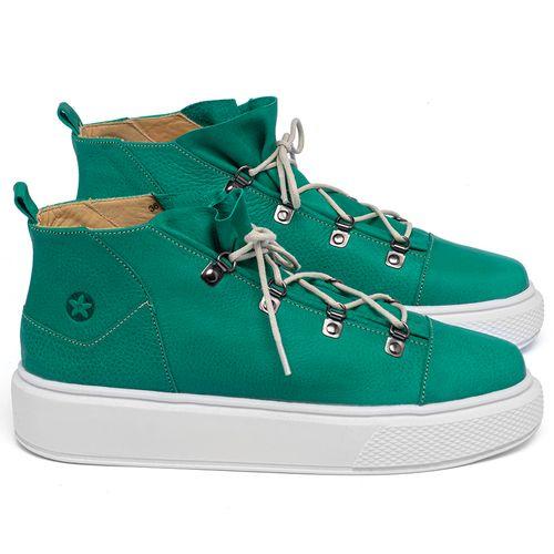 Laranja_Lima_Shoes_Sapatos_Femininos_Tenis_Cano_Alto_em_Couro_Verde_-_Codigo_-_3758_1