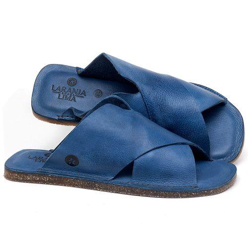 Laranja_Lima_Shoes_Sapatos_Femininos_Sandalia_Rasteira_Flat_em_Couro_Azul_-_Codigo_-_141155_1