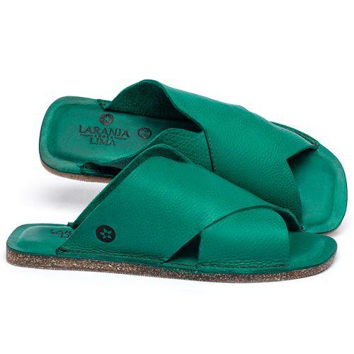 Laranja_Lima_Shoes_Sapatos_Femininos_Sandalia_Rasteira_Flat_em_Couro_Verde_-_Codigo_-_141155_1