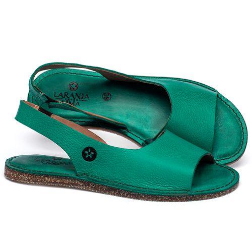 Laranja_Lima_Shoes_Sapatos_Femininos_Sandalia_Rasteira_Flat_em_Couro_Verde_-_Codigo_-_141163_1