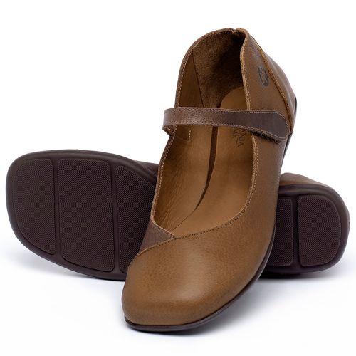 Laranja_Lima_Shoes_Sapatos_Femininos_Sapatilha_Bico_Quadrado_em_Couro_Caramelo_-_Codigo_-_9495_2