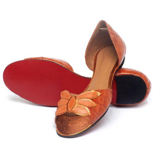 Laranja_Lima_Shoes_Sapatos_Femininos_Sapatilha_Peep_Toe_em_Couro_Laranja_-_Codigo_-_56221_2
