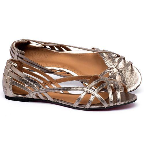 Laranja_Lima_Shoes_Sapatos_Femininos_Sapatilha_Peep_Toe_em_Couro_Metalizado_-_Codigo_-_56218_1