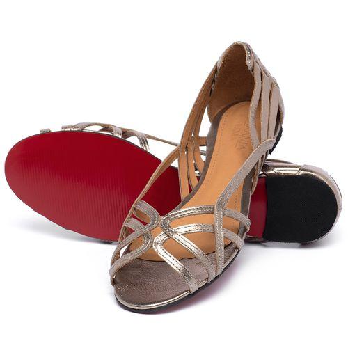 Laranja_Lima_Shoes_Sapatos_Femininos_Sapatilha_Peep_Toe_em_Couro_Metalizado_-_Codigo_-_56218_2
