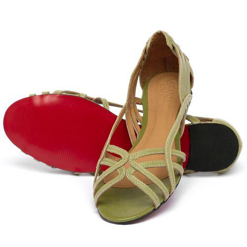 Laranja_Lima_Shoes_Sapatos_Femininos_Sapatilha_Peep_Toe_em_Couro_Verde_-_Codigo_-_56218_2