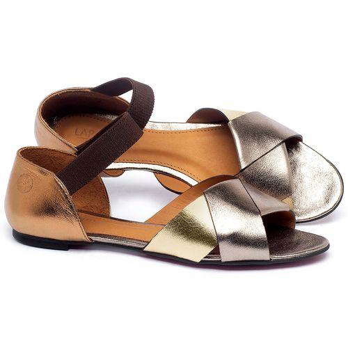 Laranja_Lima_Shoes_Sapatos_Femininos_Sapatilha_Peep_Toe_em_Couro_Metalizado_-_Codigo_-_56220_1