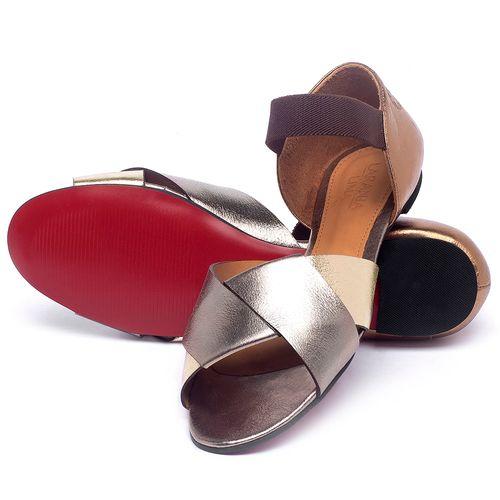 Laranja_Lima_Shoes_Sapatos_Femininos_Sapatilha_Peep_Toe_em_Couro_Metalizado_-_Codigo_-_56220_2