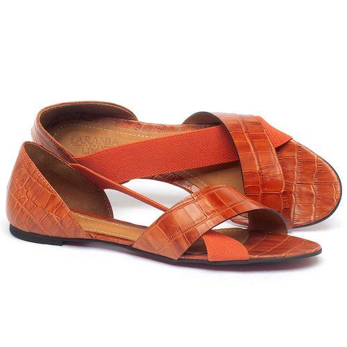 Laranja_Lima_Shoes_Sapatos_Femininos_Sapatilha_Peep_Toe_em_Couro_Laranja_-_Codigo_-_56121_1