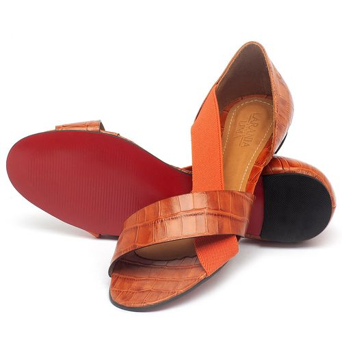 Laranja_Lima_Shoes_Sapatos_Femininos_Sapatilha_Peep_Toe_em_Couro_Laranja_-_Codigo_-_56121_2