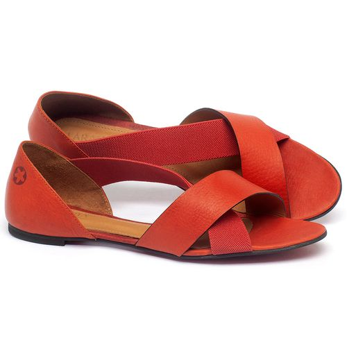 Laranja_Lima_Shoes_Sapatos_Femininos_Sapatilha_Peep_Toe_em_Couro_Vermelho_-_Codigo_-_56121_1