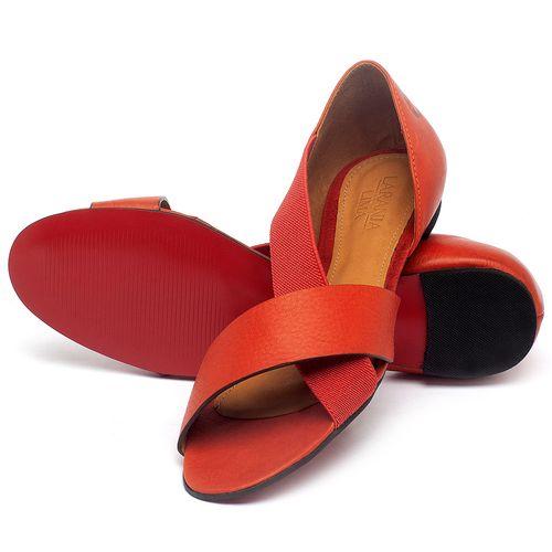Laranja_Lima_Shoes_Sapatos_Femininos_Sapatilha_Peep_Toe_em_Couro_Vermelho_-_Codigo_-_56121_2