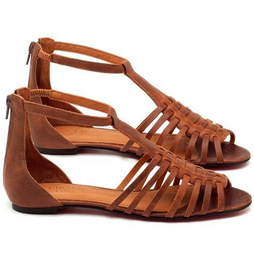 Laranja_Lima_Shoes_Sapatos_Femininos_Sapatilha_Peep_Toe_em_Couro_Caramelo_-_Codigo_-_56145_1