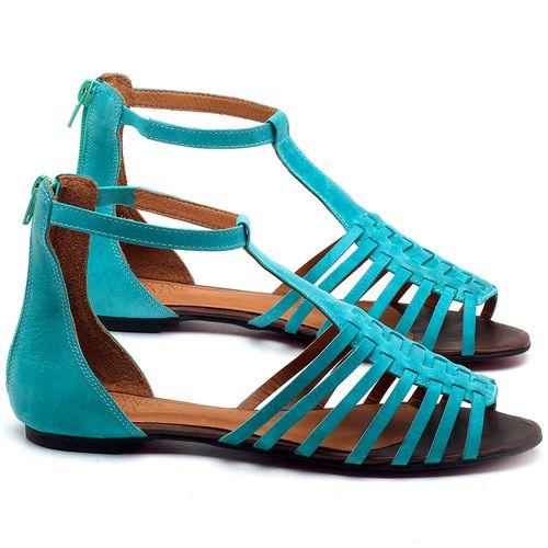 Laranja_Lima_Shoes_Sapatos_Femininos_Sapatilha_Peep_Toe_em_Couro_Azul_-_Codigo_-_56145_1