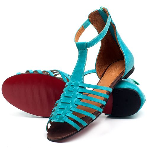 Laranja_Lima_Shoes_Sapatos_Femininos_Sapatilha_Peep_Toe_em_Couro_Azul_-_Codigo_-_56145_2
