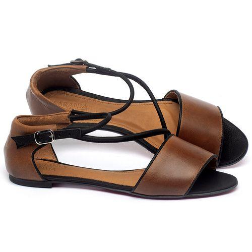 Laranja_Lima_Shoes_Sapatos_Femininos_Sapatilha_Peep_Toe_em_Couro_Marrom_-_Codigo_-_56217_1