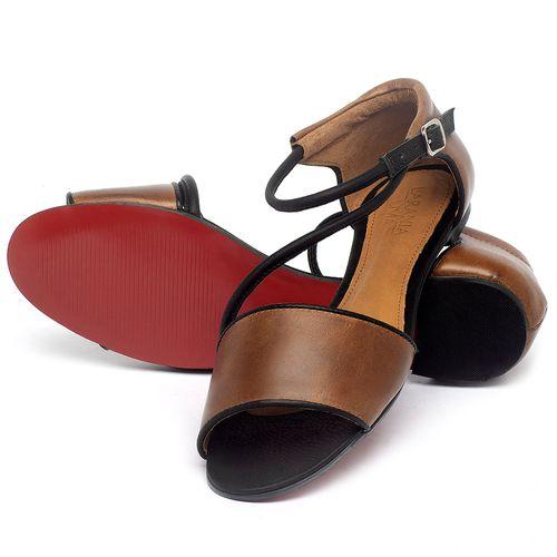 Laranja_Lima_Shoes_Sapatos_Femininos_Sapatilha_Peep_Toe_em_Couro_Marrom_-_Codigo_-_56217_2