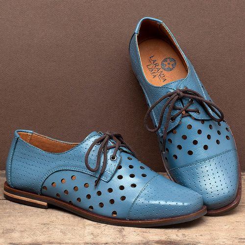 Laranja_Lima_Shoes_Sapatos_Femininos_Sapatilha_Bico_Quadrado_em_Couro_Azul_-_Codigo_-_136101_2