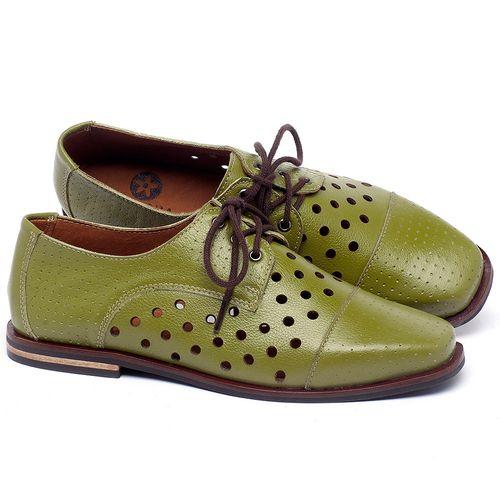 Laranja_Lima_Shoes_Sapatos_Femininos_Sapatilha_Bico_Quadrado_em_Couro_Verde_-_Codigo_-_136101_1