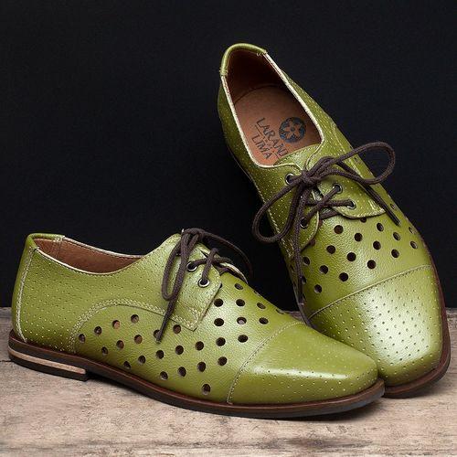 Laranja_Lima_Shoes_Sapatos_Femininos_Sapatilha_Bico_Quadrado_em_Couro_Verde_-_Codigo_-_136101_2