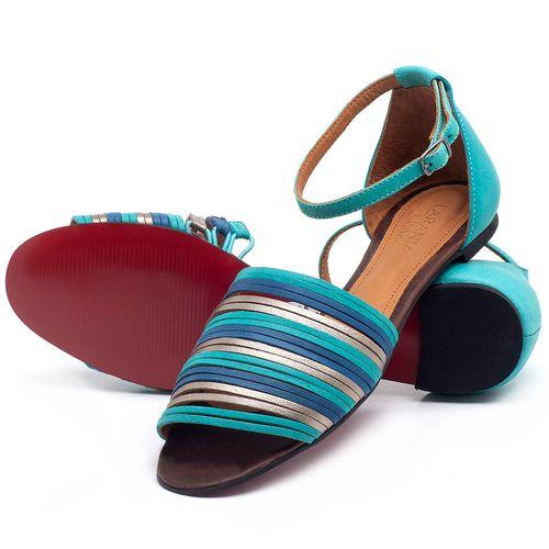 Laranja_Lima_Shoes_Sapatos_Femininos_Sapatilha_Peep_Toe_em_Couro_Azul_-_Codigo_-_56185_2